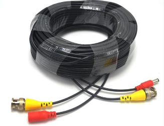 Pre-made All-in-One 30M 100Ft BNC Video and Power Cable with Connector for CCTV Security Camera by hiphen